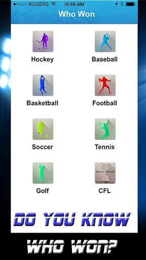 Who Won - Sports Almanac