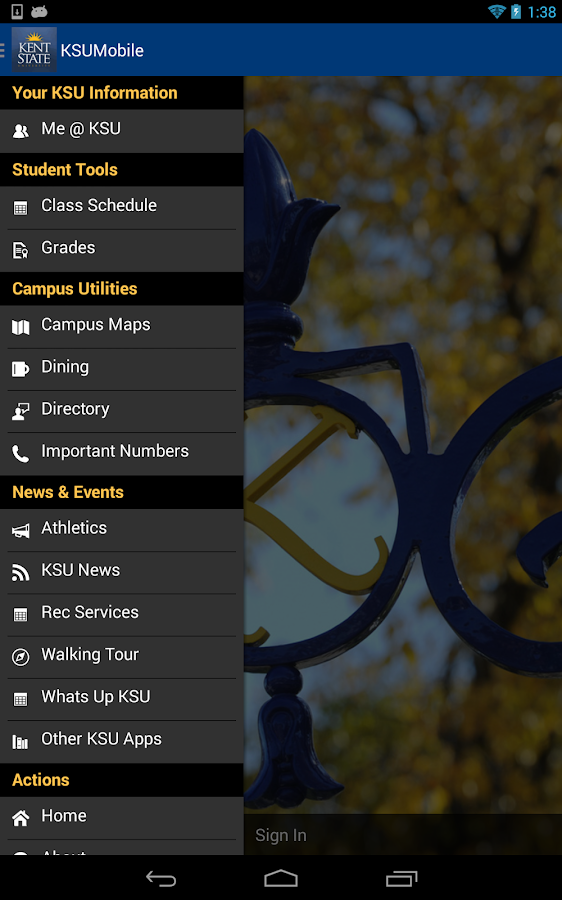 KSU Mobile - screenshot