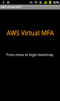 Screenshot of AWS Virtual MFA