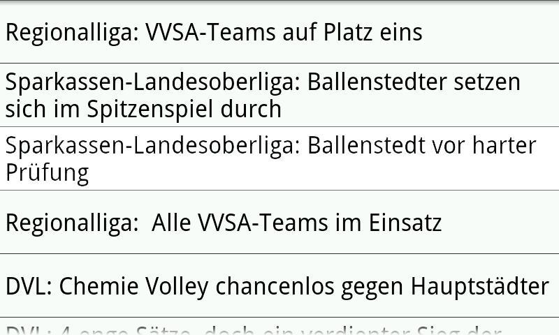 VVSA Volleyball Online- screenshot