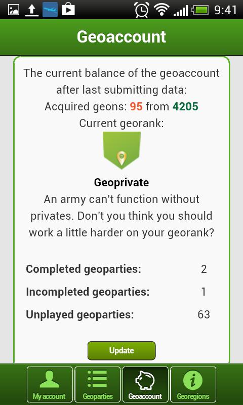 GEOFUN - geolocation games - screenshot