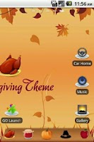 Screenshot of Thanksgiving Theme