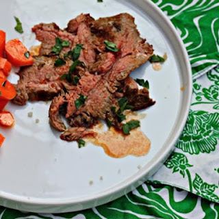 Grilled Ras el Hanout Flank Steak With Moroccan Carrot Salad