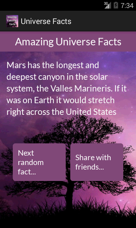 Amazing Universe Facts- screenshot