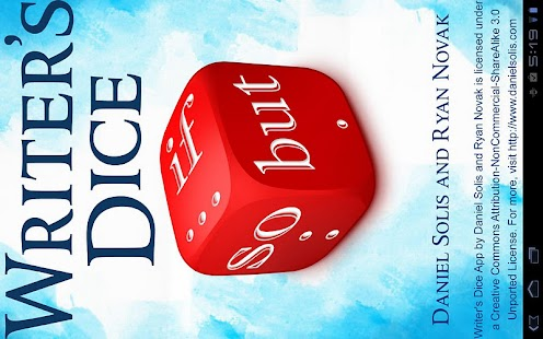 Writer's Dice - screenshot thumbnail