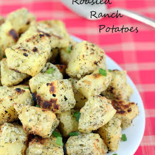 Oven Roasted Ranch Potatoes.