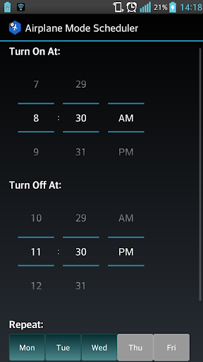 Airplane Mode Scheduler