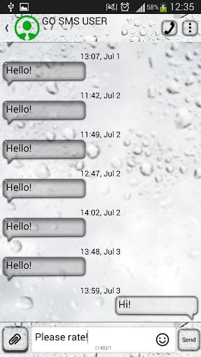 GO短信加强版雨