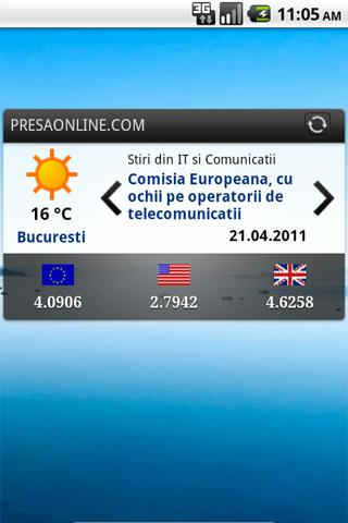 PresaOnline, Stiri din Romania- screenshot