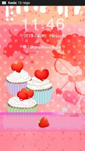 GO Locker Theme cupcake heart - screenshot thumbnail