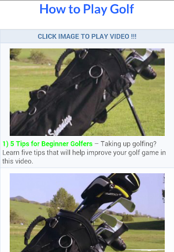 Golf Tips Lessons