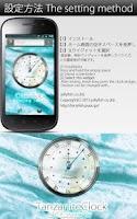 Screenshot of 12月誕生石タンザナイト【アナログ時計ウィジェット】