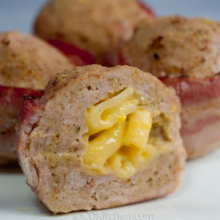 Turkey Meatloaf Stuffed With Mac and Cheese