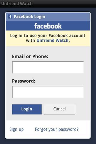 Unfriend Watch - screenshot