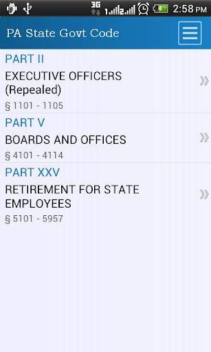 PA State Gov Code