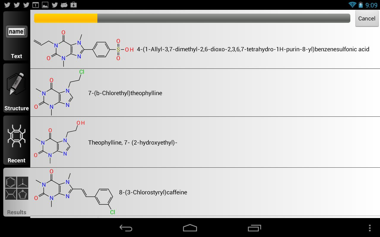 ChemSpider Mobile - screenshot