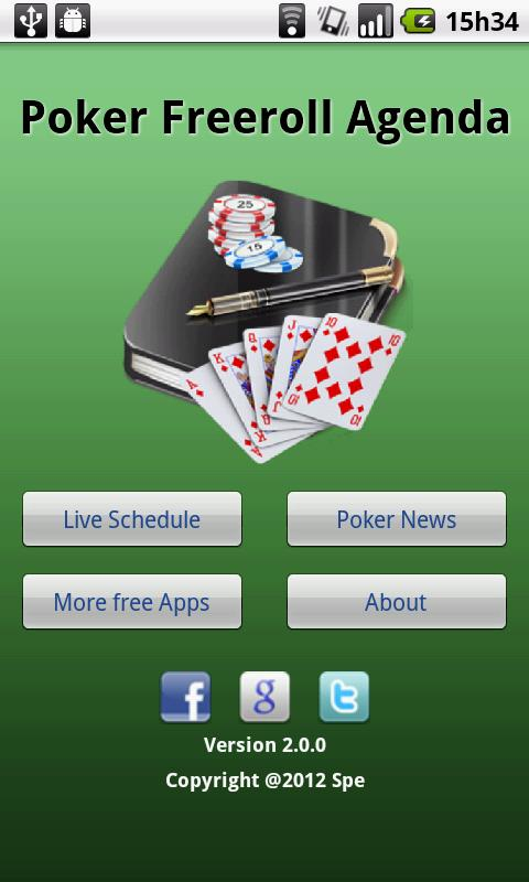 Poker Freeroll Agenda- screenshot