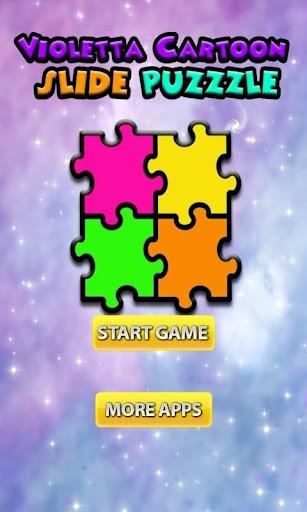 Violetta Cartoon Slide Puzzle
