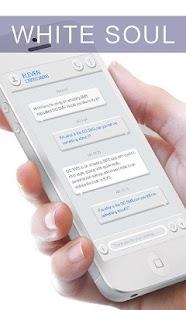 GO SMS PRO WHITESOUL THEME - screenshot thumbnail
