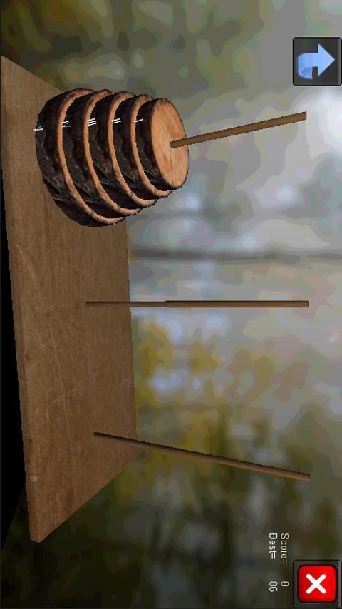 Hanoi Tower 3D Puzzle- screenshot