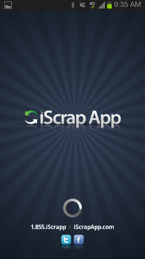 iScrap App- screenshot