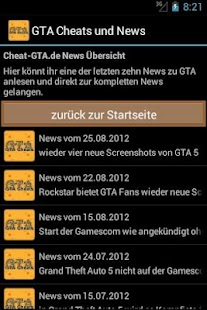 GTA Cheats und News - screenshot thumbnail