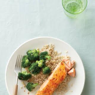 Glazed Salmon with Spicy Broccoli.