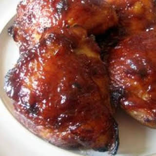 Grilled Chicken with Root Beer Barbecue Sauce.