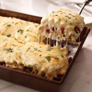 Creamy White Chicken & Artichoke Lasagna.