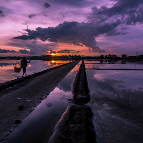 finish by Arik S. Mintorogo - Landscapes Sunsets & Sunrises
