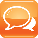 Orange chat icon
