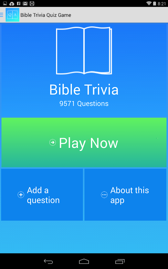 Free Bible Trivia Game- screenshot