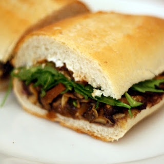 Roasted Mushroom Torta with Goat Cheese and Black Beans