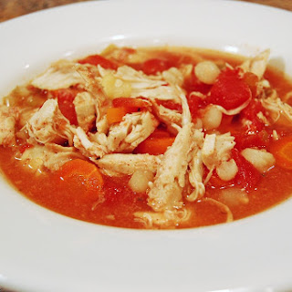 Chicken Posole Stew in the Slow Cooker.