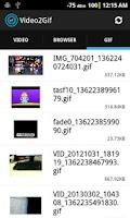 Screenshot of Video to Gif Beta