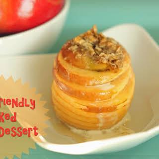 Kid-Friendly Baked Apple Dessert.