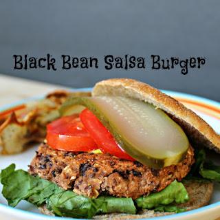 Black Bean Salsa Burgers and Crispy Potato Rounds