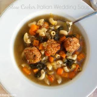 Easy Slow Cooker Italian Wedding Soup.