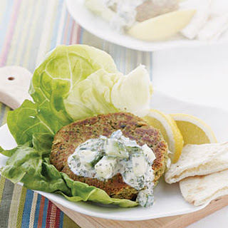 Falafel Patties with Tzatziki.