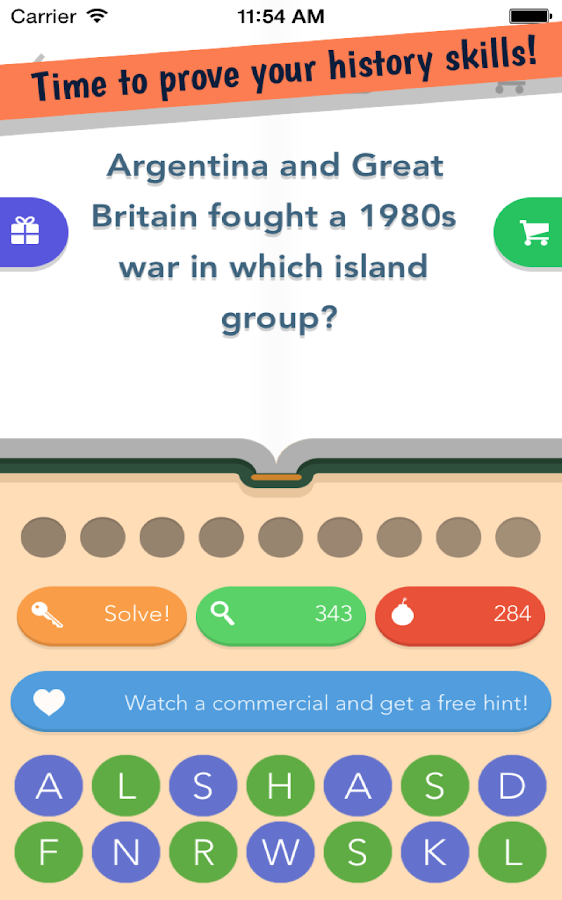 History Quiz- screenshot
