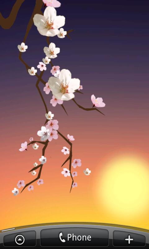Lovely Sakura Live Wallpaper- screenshot