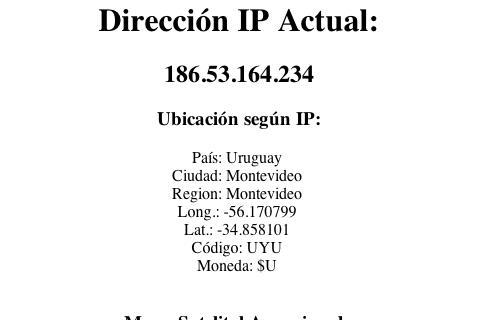 Direccion IP y Geolocación