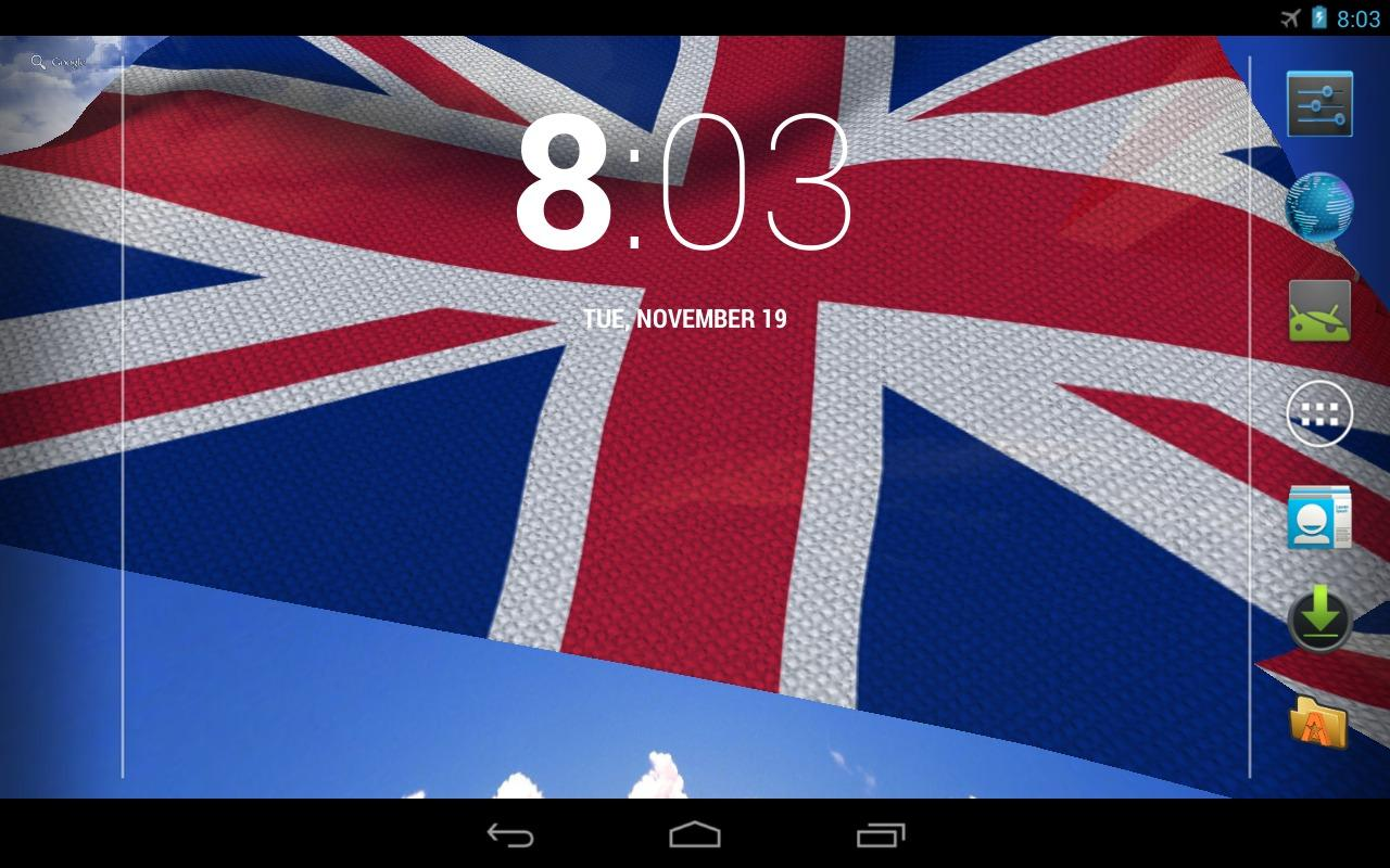 3D UK Flag Live Wallpaper- screenshot