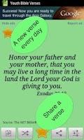Screenshot of Youth Bible Verses & widget