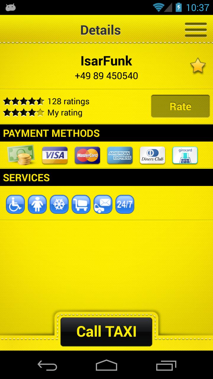 cab4me taxi finder screenshot #3