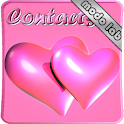Hearts Pink GO Contacts theme