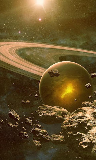 2048 Asteroids live wallpaper