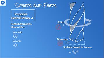 Screenshot of Speeds and Feeds Calculator