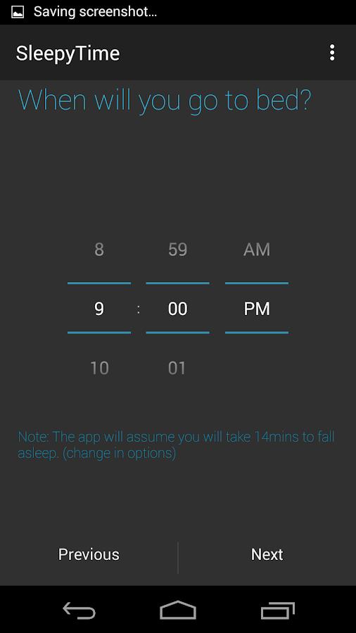 SleepyTime: Bedtime Calculator - screenshot
