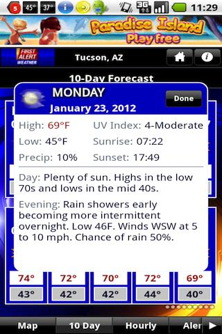TucsonNewsNow Weather Now - screenshot